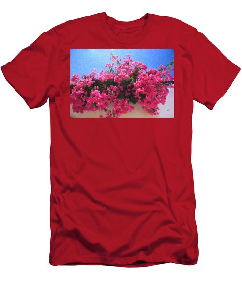 Santorini Flowers Grk1113 Men's T-Shirt (Athletic Fit)