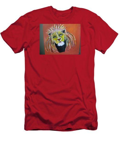 Men's T-Shirt (Slim Fit) featuring the painting Savannah Lord by Sharyn Winters