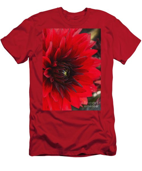 Scarlet Dahlia Men's T-Shirt (Athletic Fit)