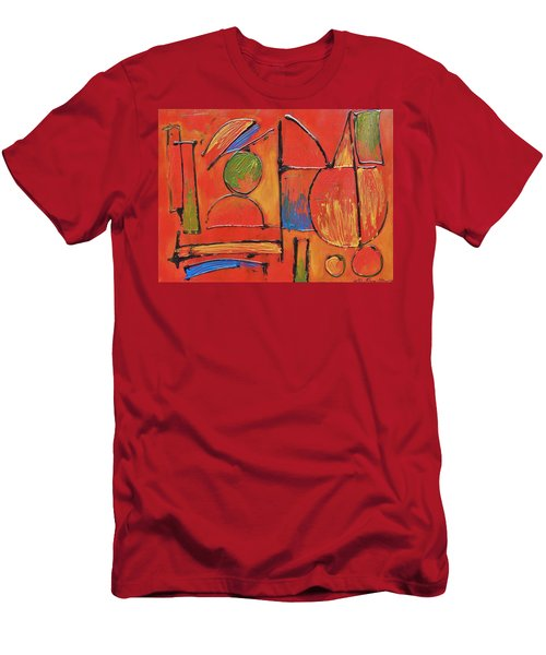 Men's T-Shirt (Slim Fit) featuring the painting Searching For My Soul by Jason Williamson