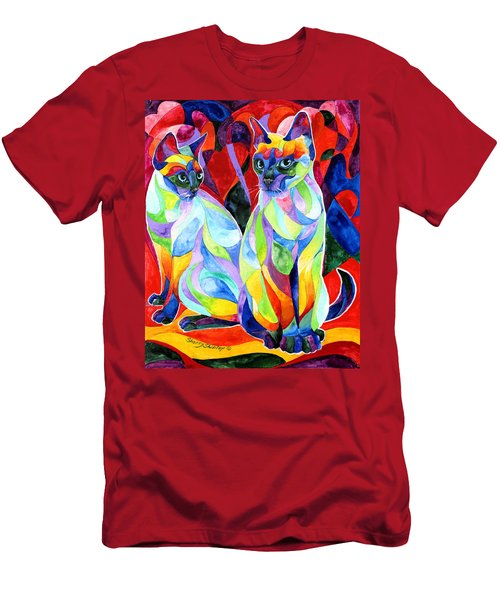 Siamese Sweethearts Men's T-Shirt (Slim Fit) by Sherry Shipley