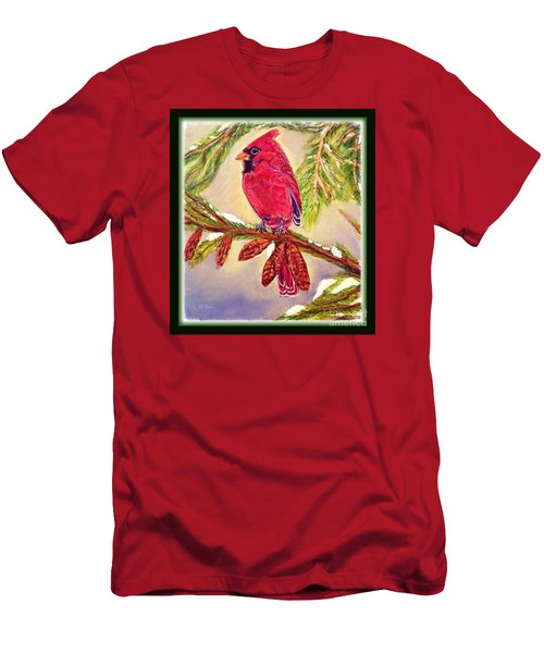Men's T-Shirt (Slim Fit) featuring the painting Singing The Good News With Border by Kimberlee Baxter