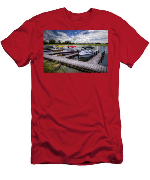 Men's T-Shirt (Athletic Fit) featuring the photograph Ski Nautique by Debra and Dave Vanderlaan