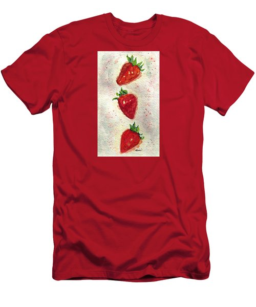 Men's T-Shirt (Slim Fit) featuring the painting So Juicy by Angela Davies