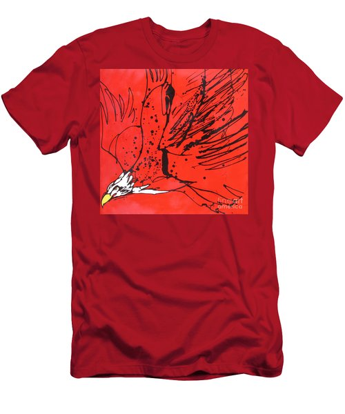 Men's T-Shirt (Slim Fit) featuring the painting Soar by Nicole Gaitan