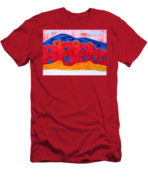 Soft Pueblo Original Painting Men's T-Shirt (Athletic Fit)