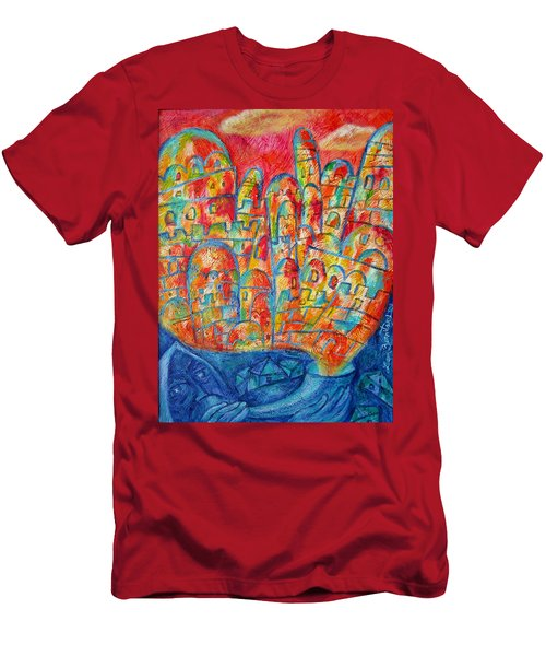 Sound Of Shofar Men's T-Shirt (Slim Fit) by Leon Zernitsky
