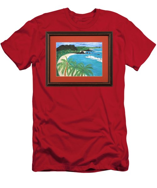 Men's T-Shirt (Slim Fit) featuring the painting South Pacific by Ron Davidson
