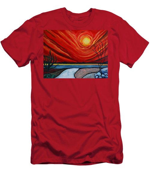 Southwest Desert Sun Men's T-Shirt (Athletic Fit)