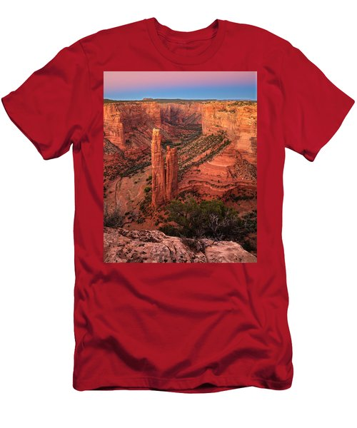 Spider Rock Sunset Men's T-Shirt (Slim Fit) by Alan Vance Ley