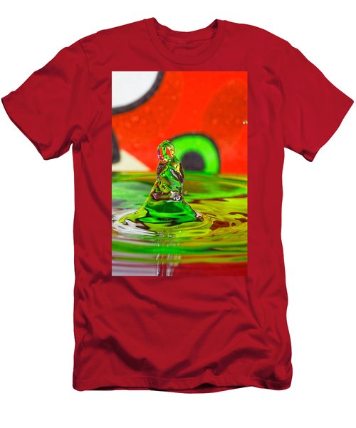 Men's T-Shirt (Slim Fit) featuring the photograph Splas by Peter Lakomy