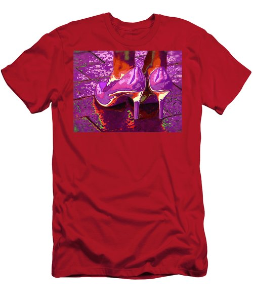 Standing In The Purple Rain Men's T-Shirt (Athletic Fit)