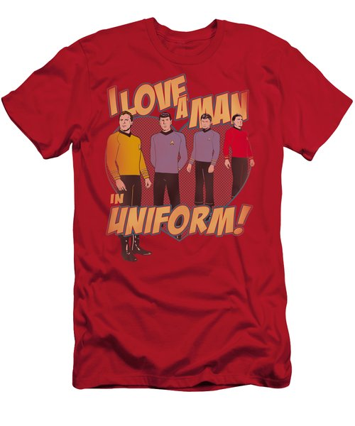 Star Trek - Man In Uniform Men's T-Shirt (Athletic Fit)