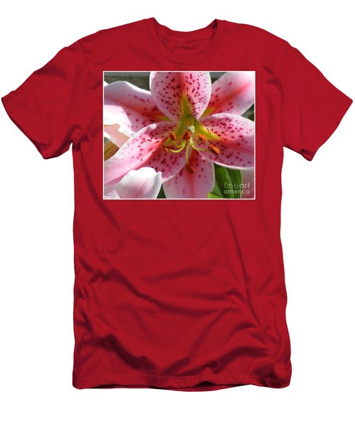 Men's T-Shirt (Slim Fit) featuring the photograph Stargazer Lily by Barbara Griffin