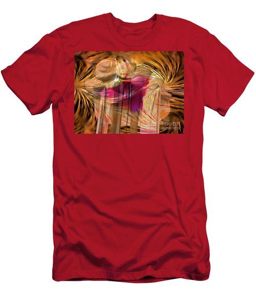 Men's T-Shirt (Athletic Fit) featuring the digital art Sticky Hand by Luc Van de Steeg