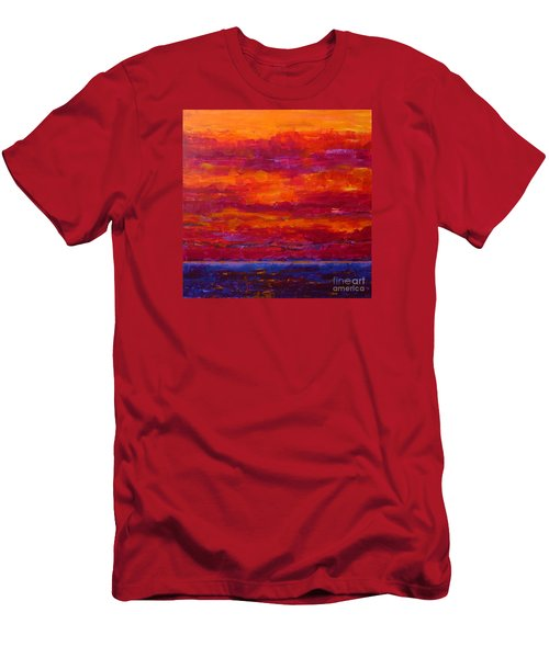 Storm Clouds Sunset Men's T-Shirt (Athletic Fit)