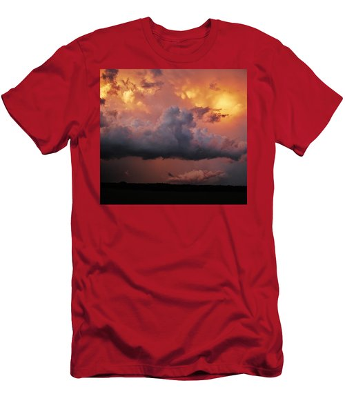Men's T-Shirt (Slim Fit) featuring the photograph Stormy Sunset by Ed Sweeney
