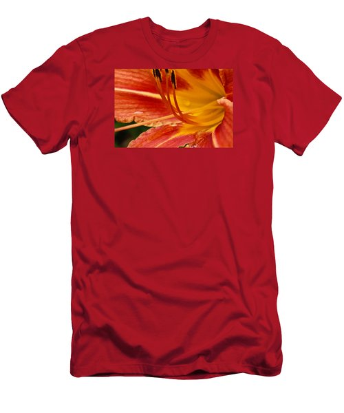 Summer Daylily Men's T-Shirt (Slim Fit) by Julie Andel