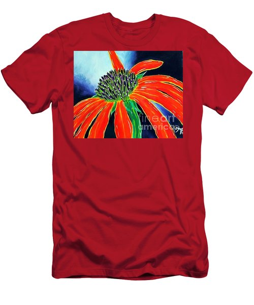 Men's T-Shirt (Slim Fit) featuring the painting Summer Kissed Cone Flower by Jackie Carpenter