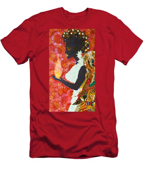Men's T-Shirt (Athletic Fit) featuring the tapestry - textile Sun Guardian - The Keeper Of The Universe by Apanaki Temitayo M
