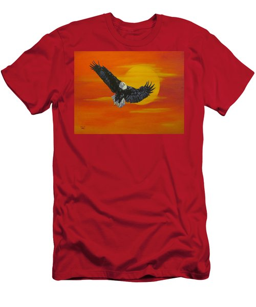 Men's T-Shirt (Slim Fit) featuring the painting Sun Riser by Wendy Shoults