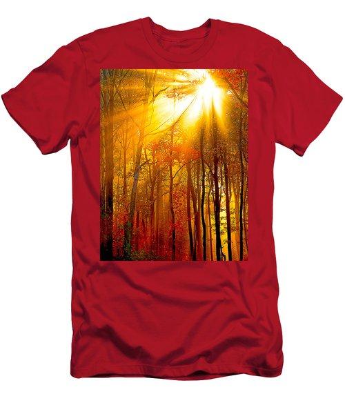 Sunburst In The Forest Men's T-Shirt (Athletic Fit)