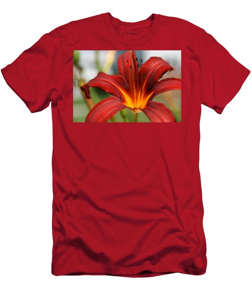 Men's T-Shirt (Slim Fit) featuring the photograph Sunburst Lily by Neal Eslinger