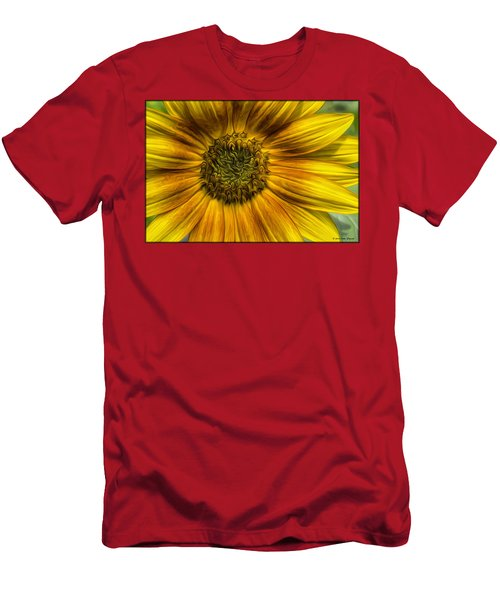 Sunflower In Oil Paint Men's T-Shirt (Athletic Fit)