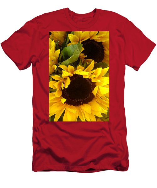 Sunflowers Tall Men's T-Shirt (Athletic Fit)