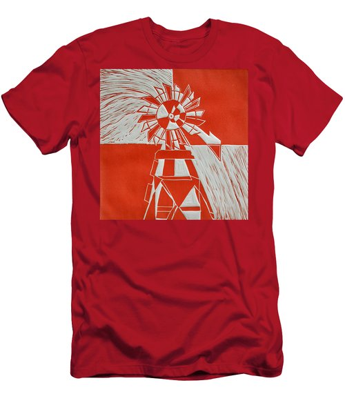 Sunny Windmill Men's T-Shirt (Athletic Fit)