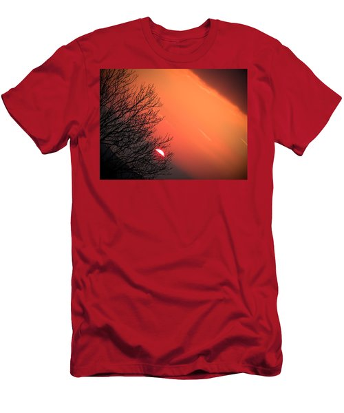Sunrise And Hibernating Tree Men's T-Shirt (Athletic Fit)