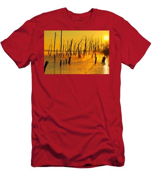 Sunrise Fog Shadows Men's T-Shirt (Athletic Fit)