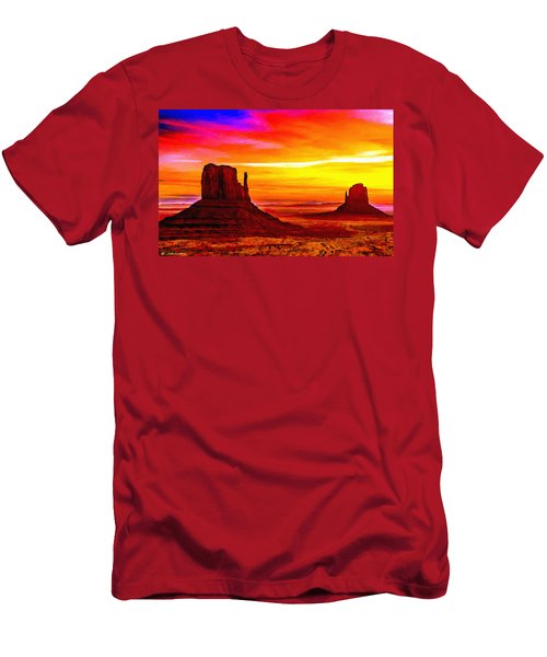 Sunrise Monument Valley Mittens Men's T-Shirt (Athletic Fit)