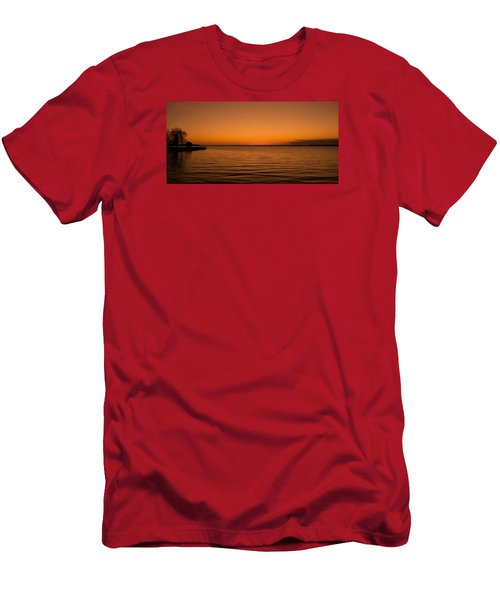 Men's T-Shirt (Slim Fit) featuring the photograph Sunrise Over The Lake Of Two Mountains - Qc by Juergen Weiss