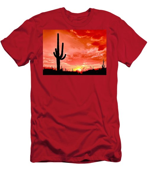 Sunrise Saguaro National Park Men's T-Shirt (Athletic Fit)