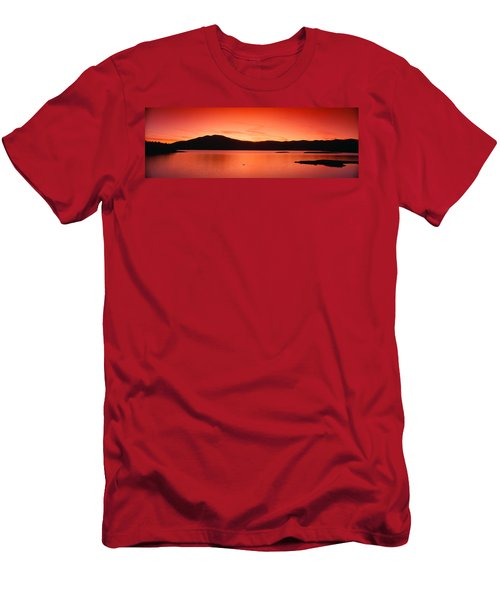 Sunset At Ashokan Reservoir, Catskill Men's T-Shirt (Athletic Fit)
