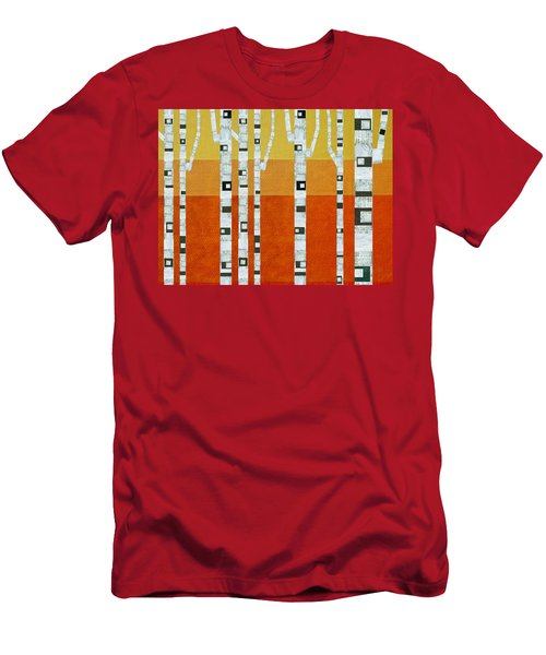 Sunset Birches Men's T-Shirt (Athletic Fit)