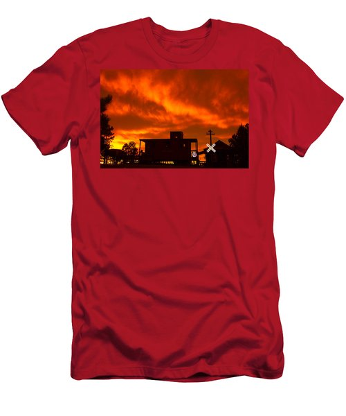 Sunset Caboose Men's T-Shirt (Athletic Fit)