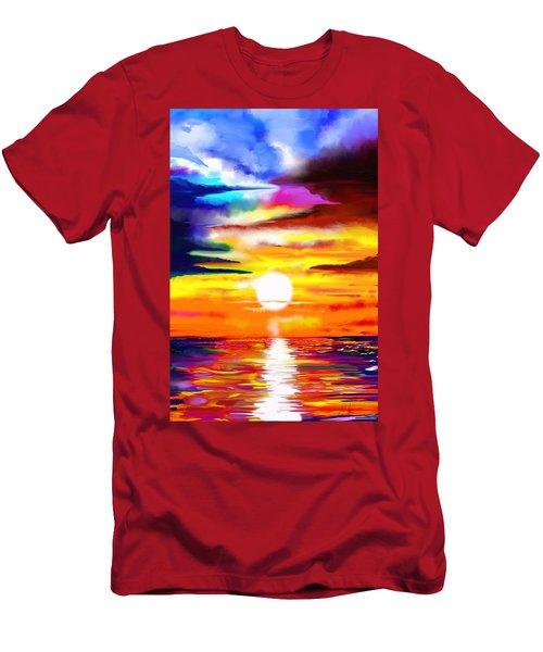 Sunset Explosion Men's T-Shirt (Athletic Fit)