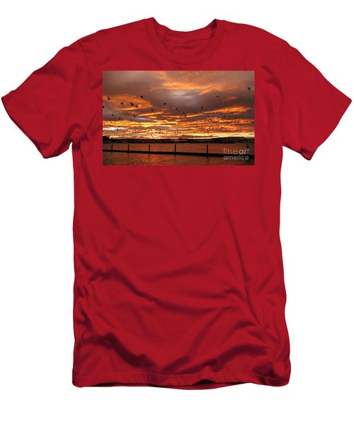 Sunset In Tauranga New Zealand Men's T-Shirt (Athletic Fit)