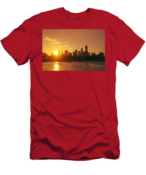 Sunset - New York City Men's T-Shirt (Athletic Fit)