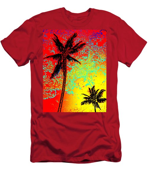 Men's T-Shirt (Slim Fit) featuring the photograph Sunset Palms by David Lawson