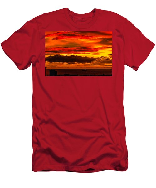 Sunset Wow2 Men's T-Shirt (Athletic Fit)