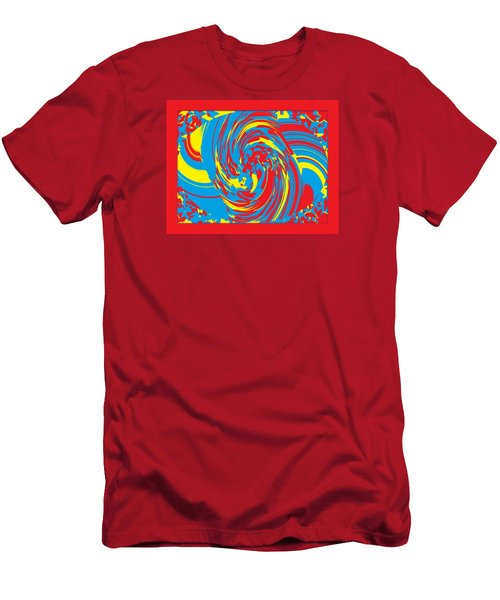 Men's T-Shirt (Slim Fit) featuring the painting Super Swirl by Catherine Lott