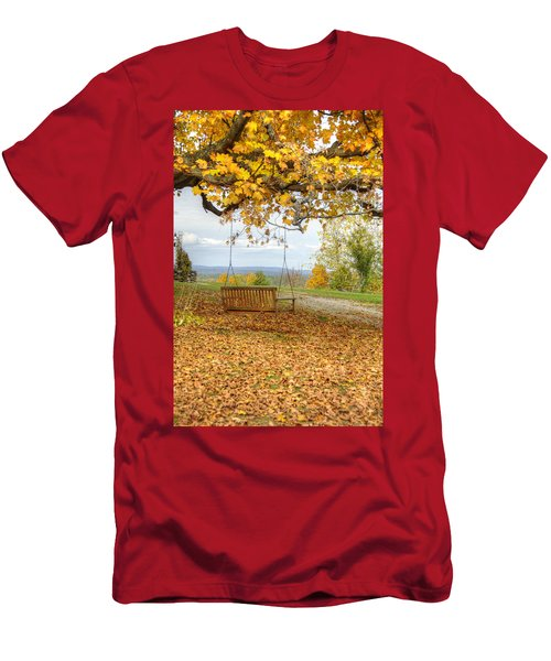 Swing With A View Men's T-Shirt (Athletic Fit)