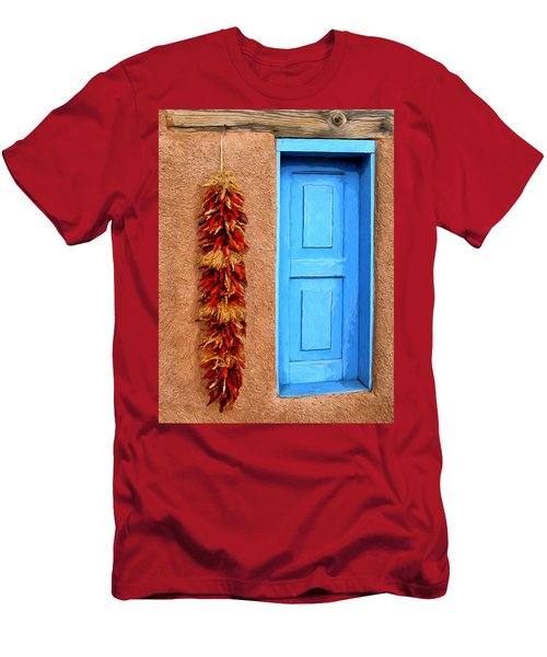 Taos Blue Door Men's T-Shirt (Athletic Fit)