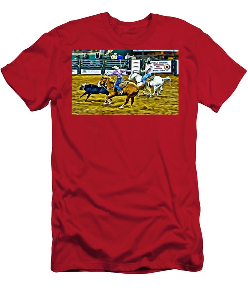 Team Ropers Men's T-Shirt (Athletic Fit)