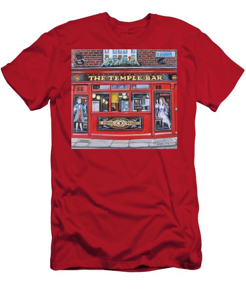 Temple Bar Dublin Ireland Men's T-Shirt (Slim Fit) by Melinda Saminski