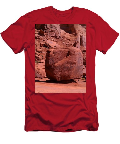 Men's T-Shirt (Slim Fit) featuring the photograph The Cube by Fortunate Findings Shirley Dickerson