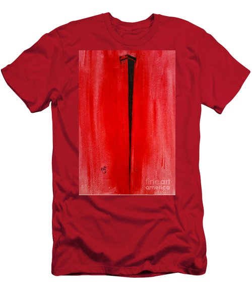 Men's T-Shirt (Slim Fit) featuring the painting The Nail by Justin Moore